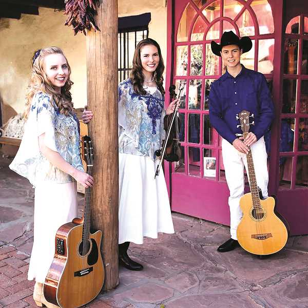 COURTESY PHOTO - Pictured are Lisa, Theresa and Daniel Hanson, who will perform on the main stage at the Clackamas County Fair.