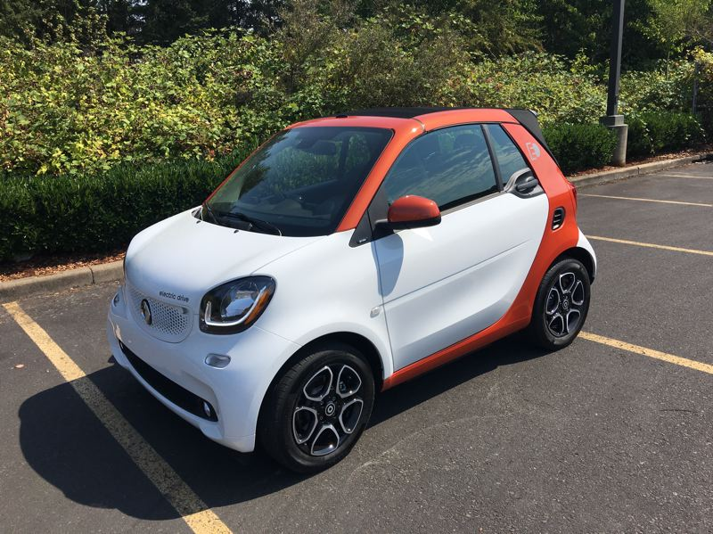 PORTLAND TRIBUNE: JEFF ZURSCHMEIDE - The 2018 smart fortwo electric drive cabrio is both the most and least practical car on the road today, depending on where you drive and your needs. Parking is a breeze but there is almost no cargo space.