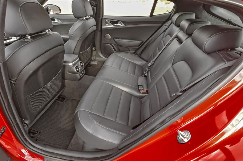 KIA MOTORS CORPORATION - Rear seat passengers will find plenty of room and comfort in the 2018 Kia Stinger GT.