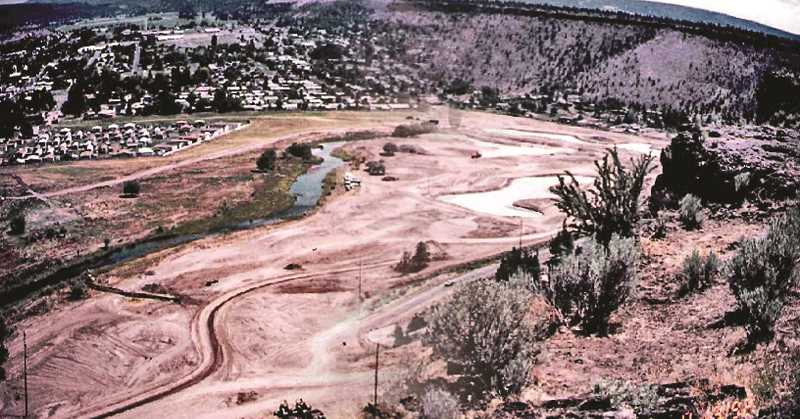 PHOTO COURTESY OF MEADOW LAKES GOLF COURSE - Construction on Meadow Lakes Golf Course is shown in August 1992.