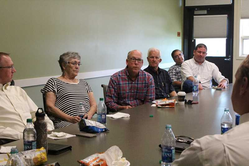 HOLLY SCHOLZ/CENTRAL OREGONIAN - U.S. Rep. Greg Walden visited with city and county leaders last week to discuss local issues.
