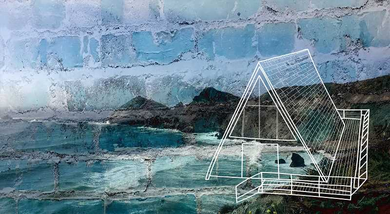SUBMITTED PHOTO - 'Seascape' is a piece on display in Starbucks by Anja Reeber.