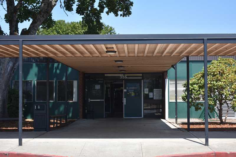 ESTACADA NEWS PHOTO: EMILY LINDSTRAND - Exterior doors at Estacada High School will soon be outfitted with a new security system.