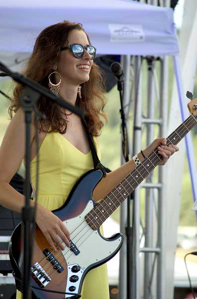 SPOKESMAN PHOTO: CLARA HOWELL - Lauren Flick rocks out on stage at the 2018 Polo Noir.
