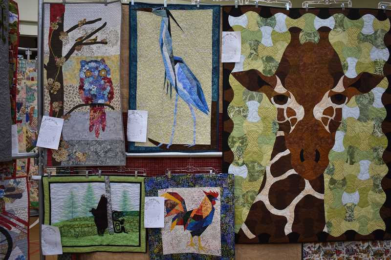 ESTACADA NEWS PHOTO: EMILY LINDSTRAND - Several quilts at the annual Skip-a-Week show on Friday, July 27, and Saturday, July 28,  featured animals.