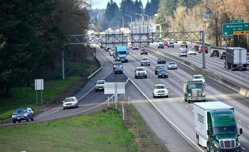 SPOKESMAN FILE PHOTO - Wilsonville officials believe a southbound auxillary lane on I-5 near Wilsonville would relieve traffic congestion.