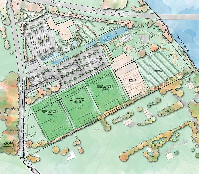SUBMITTED PHOTO - The design for Willamette United's facility next to Southlake Church remains largely the same, but the nonprofit did decide to remove the amphitheater that was part of the original plan.