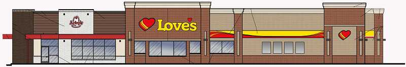 SUBMITTED RENDERING - Work may start on a truck stop, the third for Madras, in September.