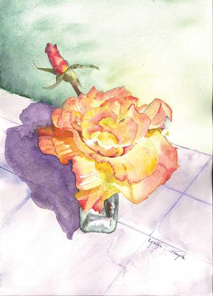Twelve paintings from Aurora artist Lyallyn Temple are now on display at the Canby Public Library.