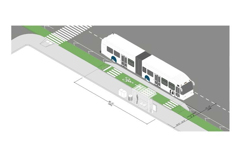 COURTESY: TRIMET - The Division Transit Project is expected to decrease travel times between downton Portland and Gresham by as much as 20 percent through the use of 60-foot-long articulated buses, 42 stations and new bus-priority signals.