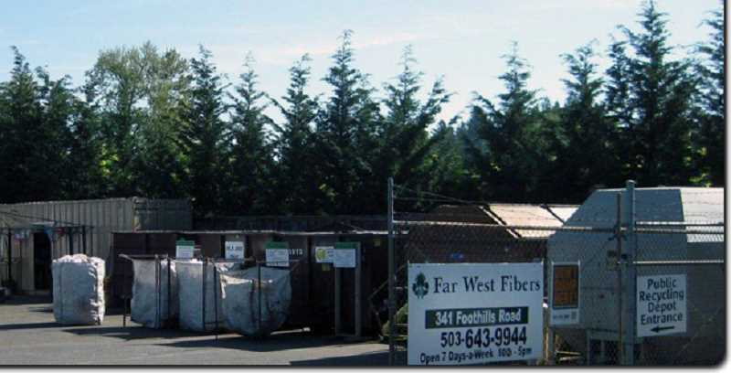 PHOTO COURTESY OF FAR WEST RECYCLING - Changes to the global recycling market have left Far West Recycling's Lake Oswego yard struggling to keep up with rising costs. It is now scheduled to close on Sept. 23.