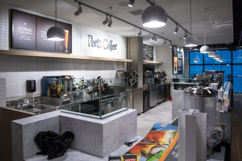 TRIBUNE PHOTO: JONATHAN HOUSE - Peet's Coffee will provide the coffee and local bakeries food at the new, downtown Capital One Cafe.
