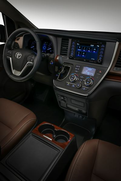 TOYOTA MOTOR CORPORATION - The interior of the 2018 Toyota Sienna is attractive, comfortable and functional.
