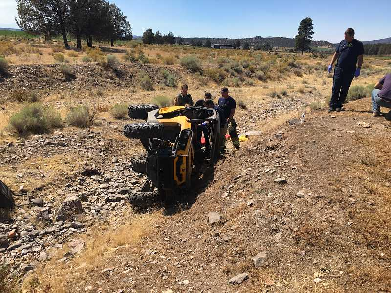CROOK COUNTY SHERIFF'S OFFICE - Joe Beers, of Prineville, was injured in a UTV crash Saturday.