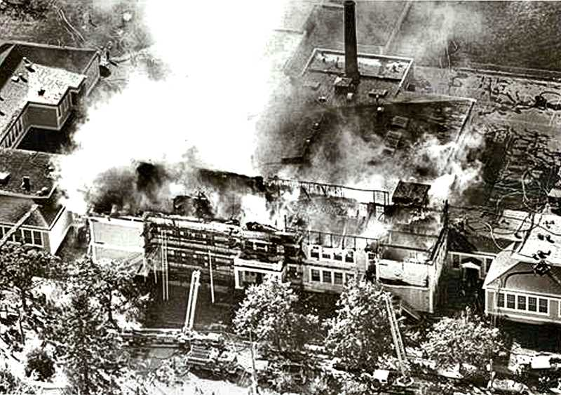 COURTESY OF PORTLAND PUBLIC SCHOOLS - Woodstock Elementary School burned in 1980 due to a mishap involving a workers torch, and was rebuilt as a one-story building, and reopened in 1981. It was founded in 1891.