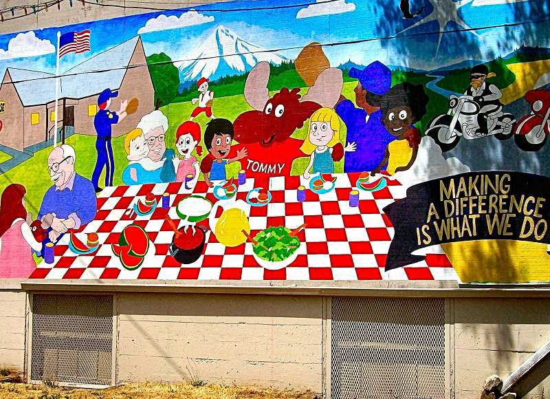 RITA A. LEONARD - The new mural painted on Moose Lodge #291 in Brentwood-Darlington depicts the ways that the organization supports the community.