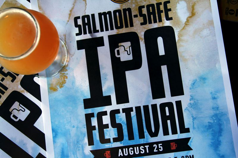 COURTESY PHOTO - Pacific Northwest breweries will participate in the first-ever Salmon-Safe IPA Festival, Saturday, Aug. 25 at Hopworks Urban Brewery on Southeast Powell Boulevard.