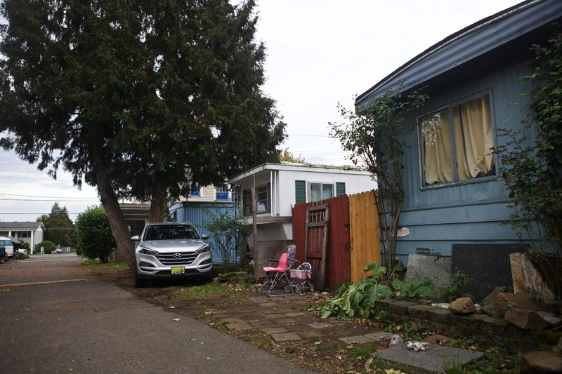 TRIBUNE FILE PHOTO  - The Oak Leaf mobile home park in the Cully neighborhood is one of several old parks in Portland that have considerable deferred maintenance. Some fear the city rezoning will spur developers to level those parks, displacing the homeowner/tenants, and put in new, expensive manufactured homes with triple the space rents.