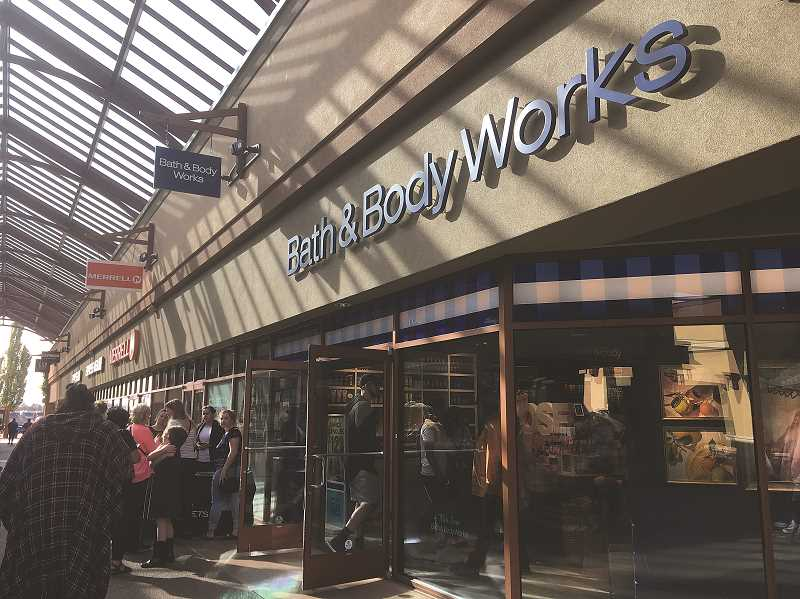 LINDSAY KEEFER - Bath & Body Works opened at Woodburn Premium Outlets Aug. 17.