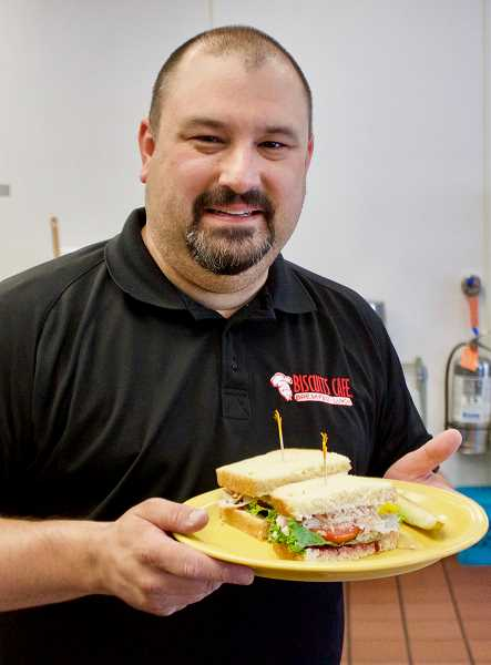 OUTLOOK PHOTO: CHRISTOPHER KEIZUR - The best sandwich Biscuits owner David Ligatich ever ate was the turkey sandwich his grandmother would make for him.