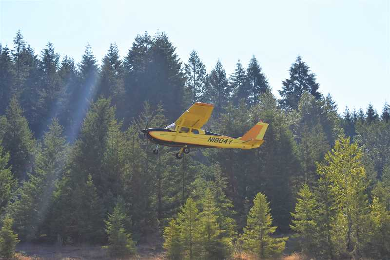 ESTACADA NEWS PHOTO: EMILY LINDSTRAND - Planes flew youths to cities like Oregon City and Mulino during an event that began at the Valley View Airport in Estacada last weekend.