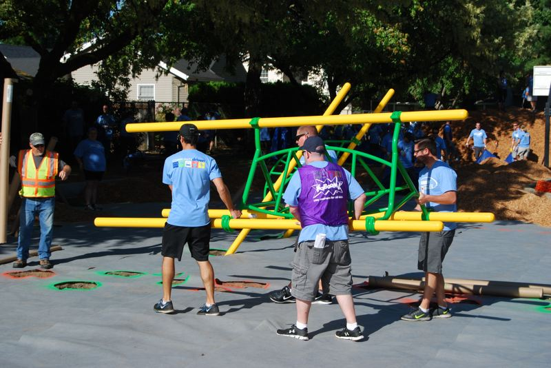 COURTESY PHOTO: CITY OF HILLSBORO - Volunteers will spend Saturday building a new playground at Turner Creek Park in Hillsboro.