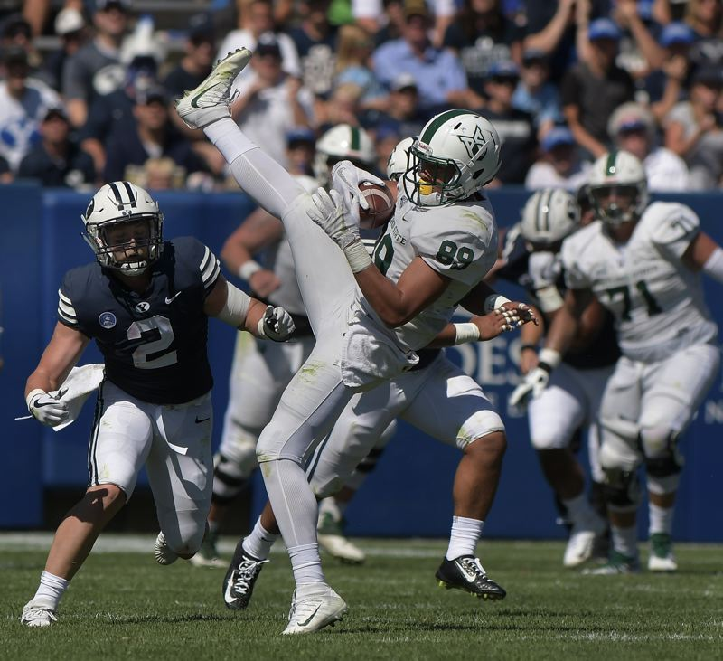 COURTESY: PORTLAND STATE UNIVERSITY - Tight end Charlie Taumoepeau is Portland State's leading returnee in pass receptions. The Vikings will open Aug. 31 at Nevada.