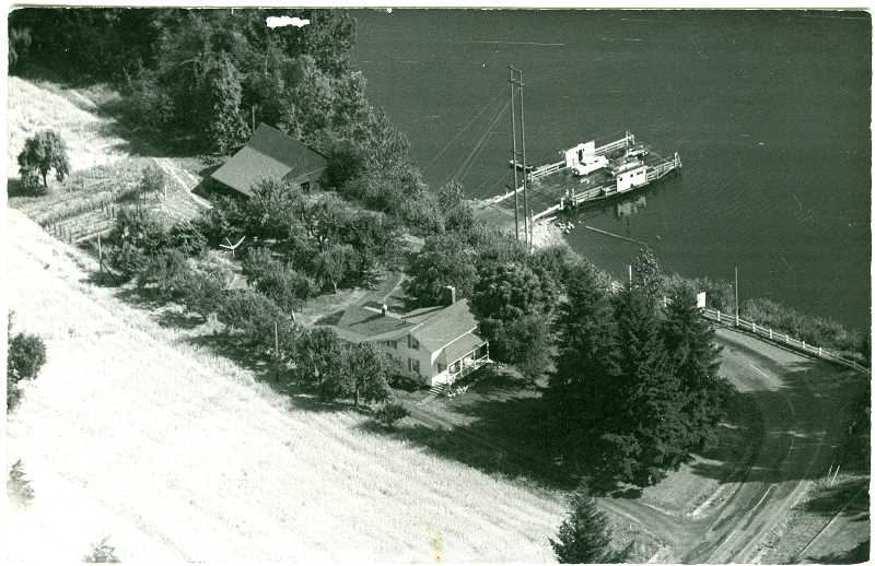 PHOTO COURTESY WILSONVILLE-BOONES FERRY HISTORICAL SOCIETY - The Jesse Boone ferry boat cost $15,000 to build in 1937; it had two 440-volt motors and a backup gas engine. Back in its early days it would cost you 25 cents to get your horse and wagon across the river -- unless it was at night, when prices doubled.