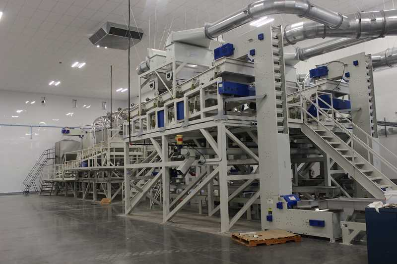 SPOKESMAN PHOTO: COREY BUCHANAN - The facility includes machinery that can slice, dice, roast and pasturize hazelnuts.