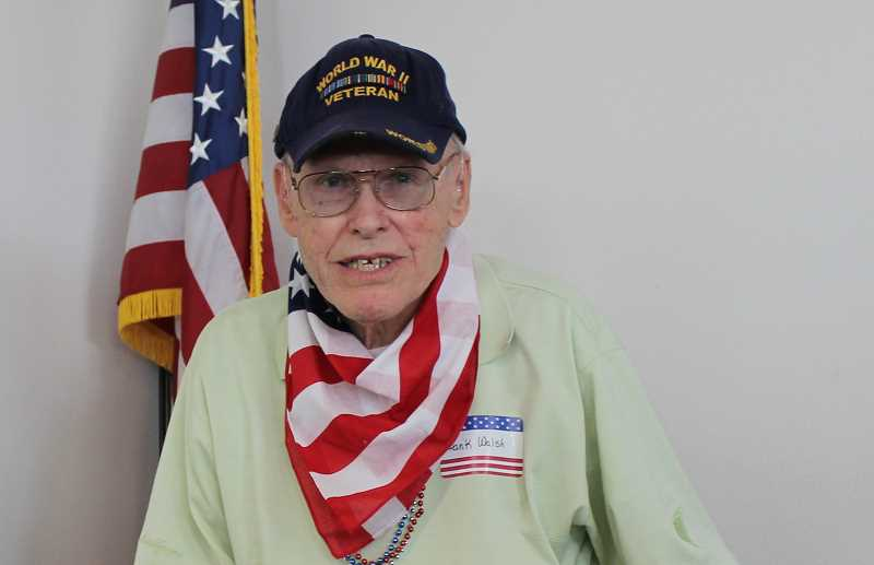 Wilsonville resident Frank Walsh was a gunner and served in varioud countries in Europe during World War II.