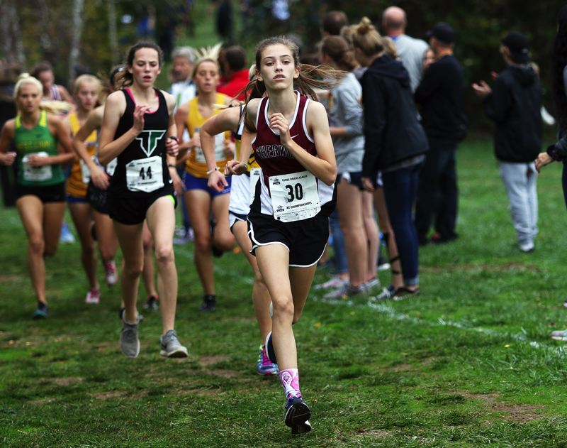 TIMES FILE PHOTO - Sophomore Kari Eddington led the way for the Lady Bowmen at last years Three Rivers League district meet.