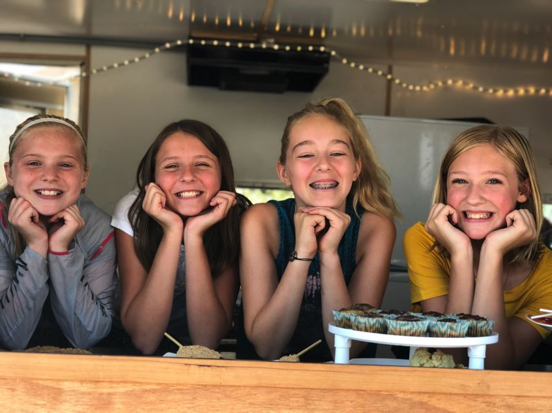 PHOTO COURTESY OF MEGAN JARMAN - Jammin Bakery is a collective of middle school students who use a mobile food cart to sell baked goods at community events.