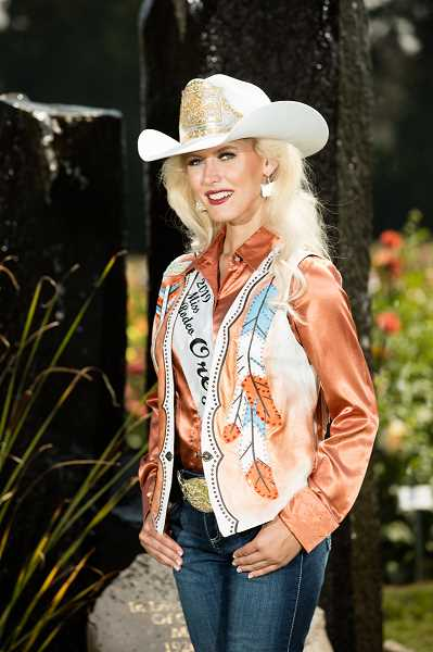 COURTESY PHOTO: JEFF WONG - Taylor Skramstad was crowned 2019 Miss Rodeo Oregon at the Canby Rodeo on Aug. 18.