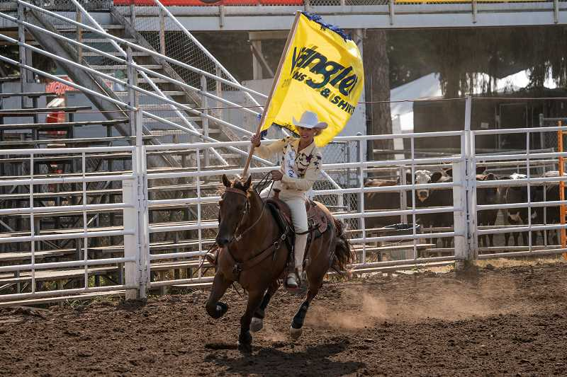 COURTESY PHOTO: JEFF WONG - 2019 Miss Rodeo Oregon Taylor Skramstad also won the horsemanship award.