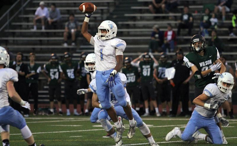 REVIEW FILE PHOTO - Lakeridge senior Andre Martinez returns to lead his team on both sides of the ball this year as the Pacers plan a return to the Class 6A state playoffs.