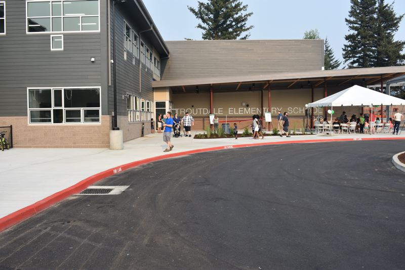 OUTLOOK PHOTO: TERESA CARSON - Troutdale Elementary has a sweeping new entrance to welcome students and families.
