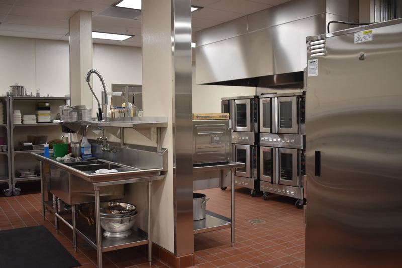OUTLOOK PHOTO: TERESA CARSON - The gleaming new kitchen at Troutdale is ready to start serving up meals.