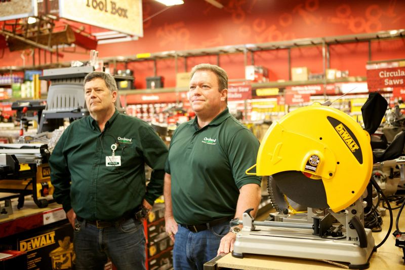 PAMPLIN MEDIA GROUP:FILE - Orchard Supply Hardware has a total of 4,300 employees, including 112 in Oregon. Parent company Lowes says displaced employees will be given priority if they choose to apply for jobs with the companys home improvement stores, which number 14 in Oregon.