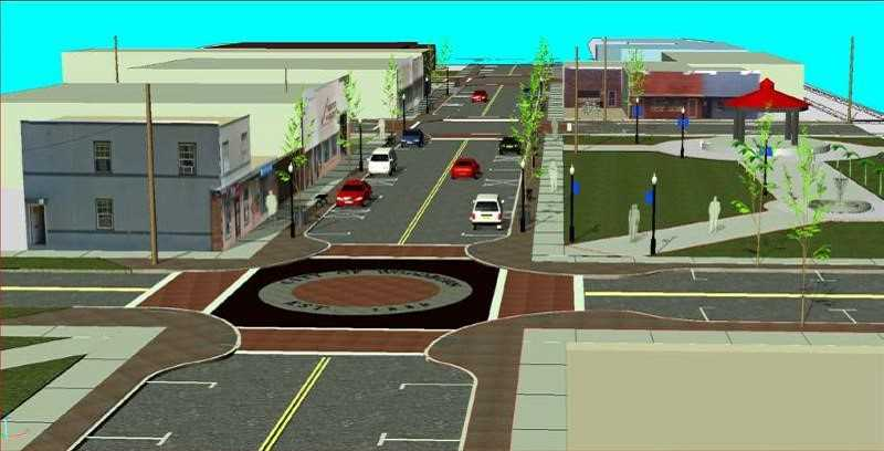 COURTESY RENDERING: CITY OF WOODBURN - The city of Woodburn wants to hear feedback from the public on steps to take during the First Street improvement project.