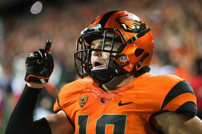 TRIBUNE FILE PHOTO: CHRISTOPHER OERTELL - Timmy Hernandez is among the wide receivers making that position group look formidable for the Oregon State Beavers.