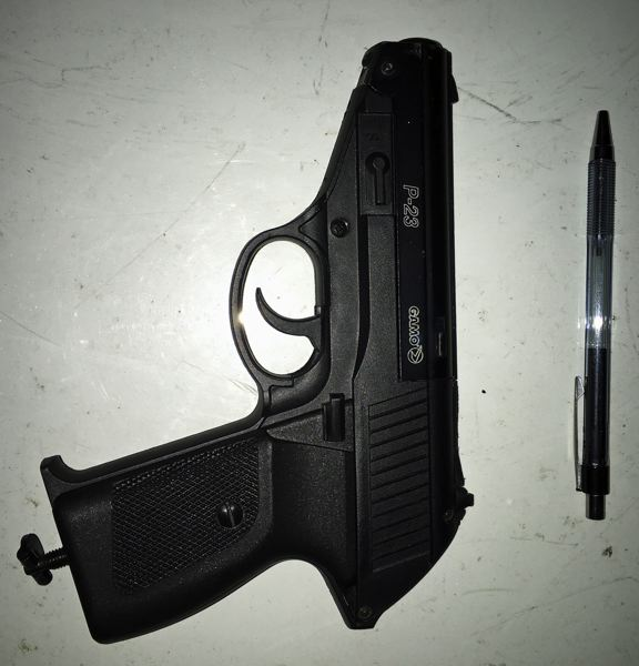 PHOTO COURTESY WCSO - An airsoft firearm, which fires a non-lethal projectile.
