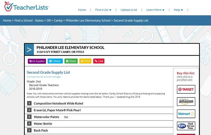 The school supply website that helps parents dial into student needs as the school year dawns.