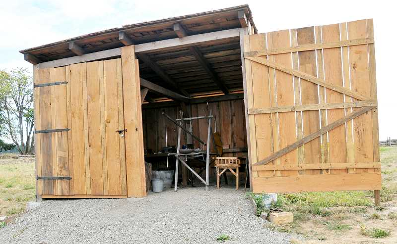 SUSAN BRANNON - After two busy years, workers for Anvil Academy have finished building a mid-1800s replica of a blacksmith shop at Champoeg State Heritage Area.