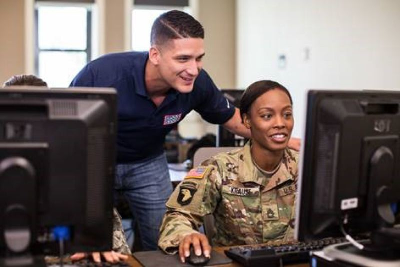 COURTESY: GOOGLE.ORG  - Google.org's $2.5 million grant will enable USO to incorporate the Google IT Support Professional Certificate into their programming.