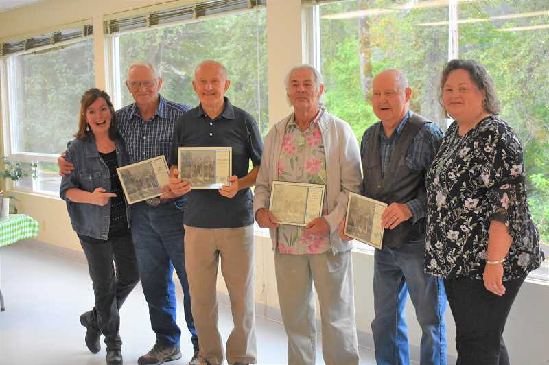 ESTACADA NEWS PHOTO: EMILY LINDSTRAND - Volunteers involved with landscaping and building assistance at the Estacada Community Center are honored at a reception on Saturday, Aug. 26.