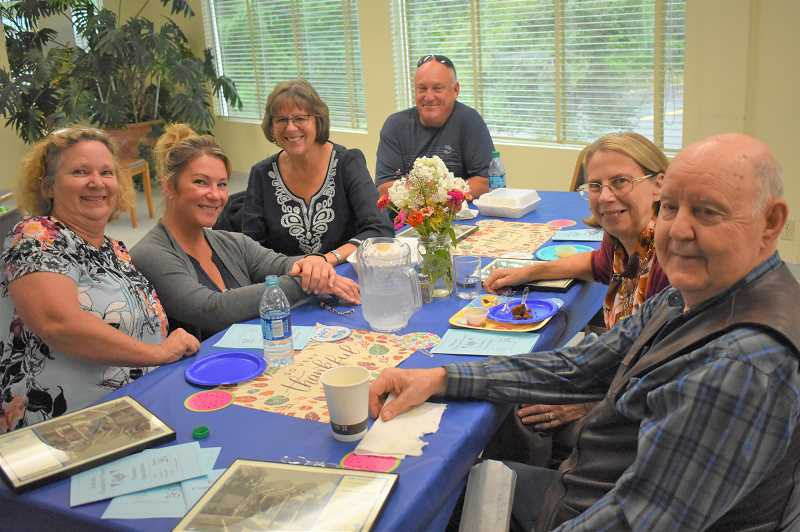 ESTACADA NEWS PHOTO: EMILY LINDSTRAND -  Volunteers at the Estacada Community Center enjoyed an appreciation reception last weekend.