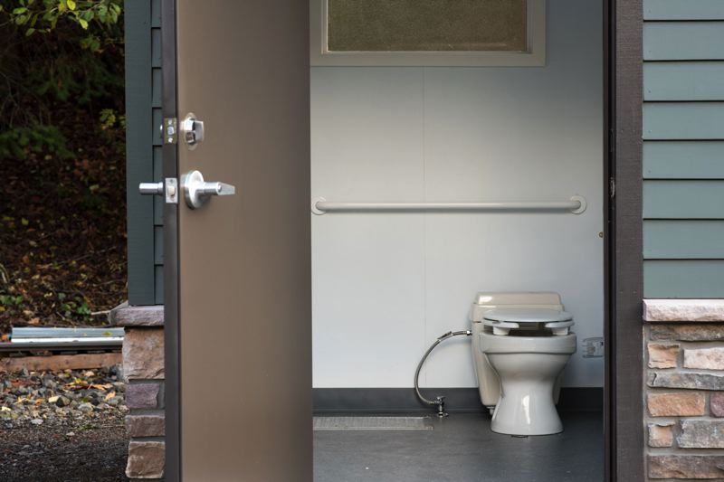 FILE PHOTO  - Lewis & Clark installed this composting toilet at its Lower Griswold athletic facilities in 2015. 