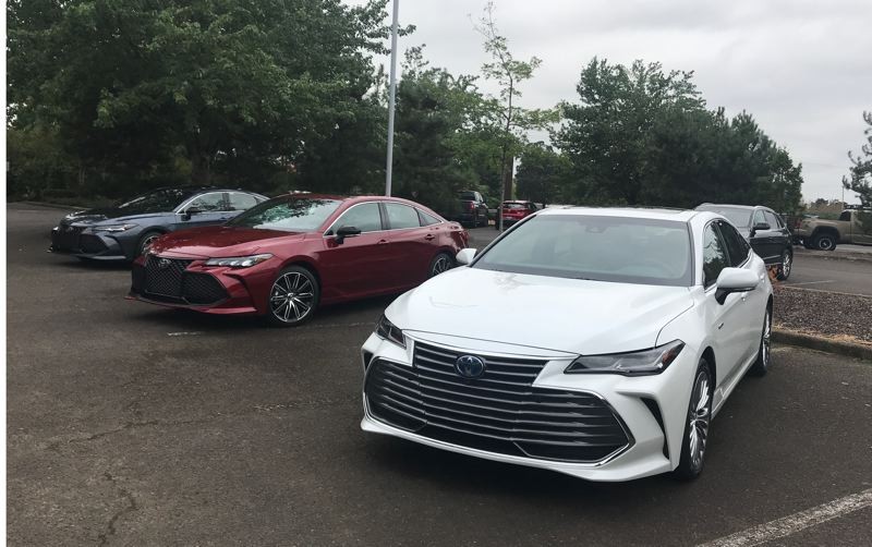 COURTESY TOYOTA - A trio of all-new Toyota Avalons outside the Portland corporate headquarters.