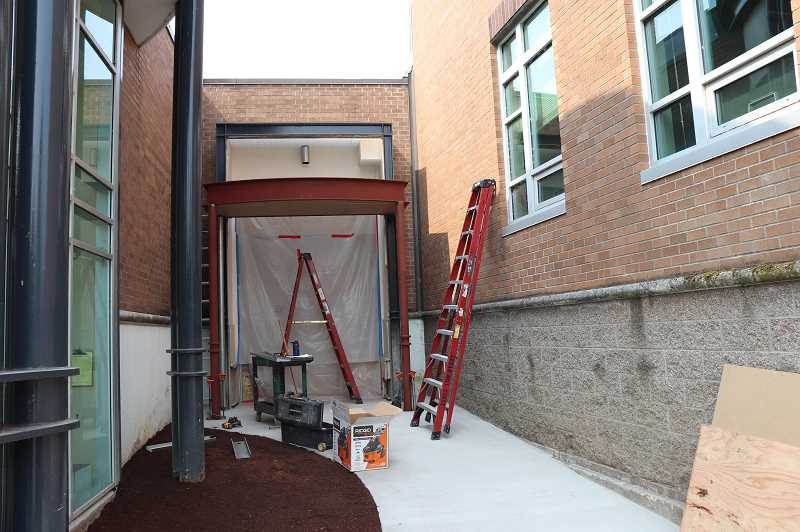 SUBMITTED PHOTO: ANDREW KILSTROM - WLHS has received a new and more secure entryway.