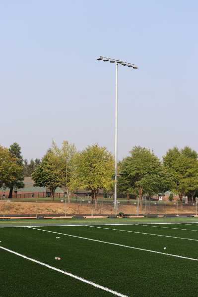 SUBMITTED PHOTO: ANDREW KILSTROM - Inza R. Wood Middle School gains a new turf football field and stadium lights.